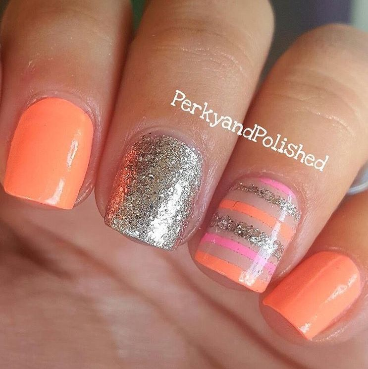 Straight Nail Vinyls | Manicure, Peach and Spring