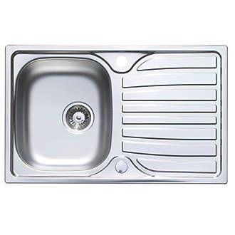 Astracast Cascade Kitchen Sink 18 10 Stainless Steel 1 Bowl 800 X 500mm Sinks Screwfix Com Sink Kitchen Sink Stainless Steel Sinks