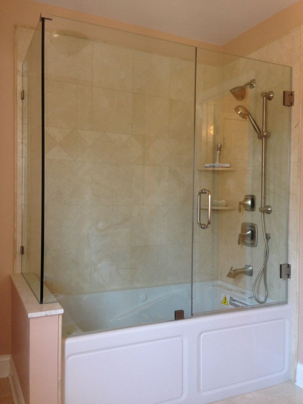 Frameless bathtub enclosure glass tub enclosures for Bathroom enclosure designs