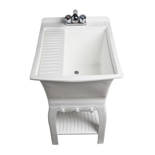 Shop Asb Solid Surface Freestanding Utility Tub At Lowes Com