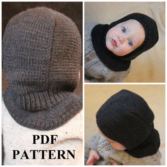 Knitting PDF pattern, Balaclava pattern, Balaclava knitting pattern ...