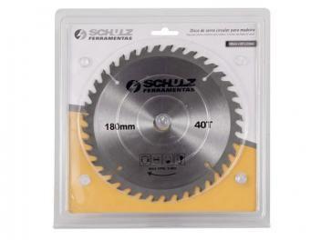 Disco de Serra Circular p/ Madeira 1 Peça - 180mm x 40T x 2 mm - Schulz