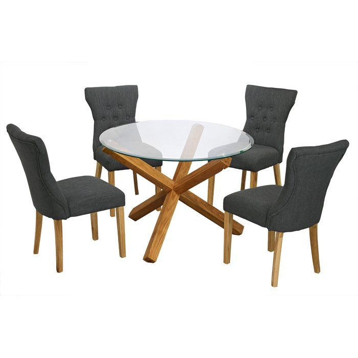 Surprising Oporto Dining Set With 4 Chairs Living Room Glass Dining Uwap Interior Chair Design Uwaporg