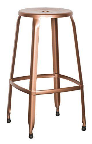 Office Star Newark 30 Inch Metal Barstool 4 Pack Copper Finish