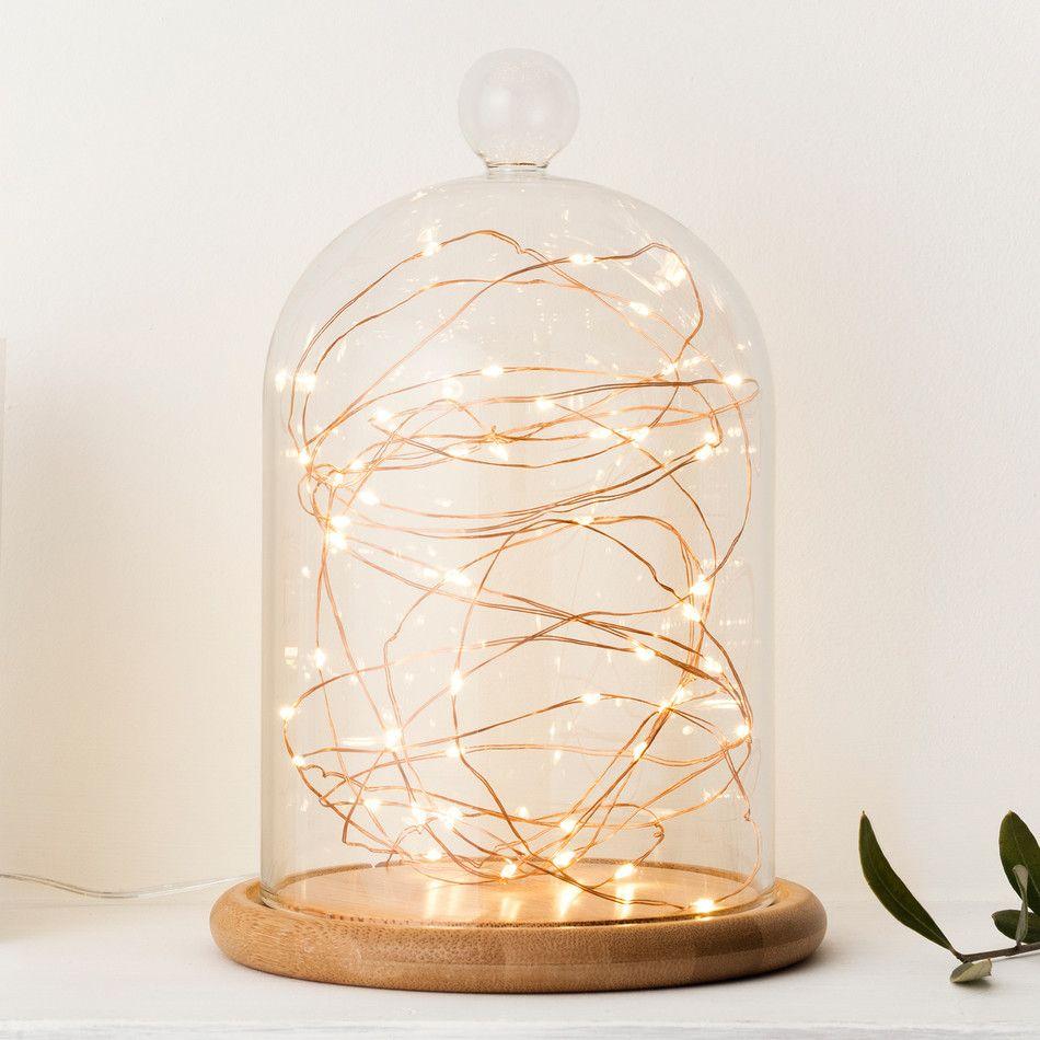 50 Warm White LED Copper Outdoor Micro Fairy Lights | White lead ...