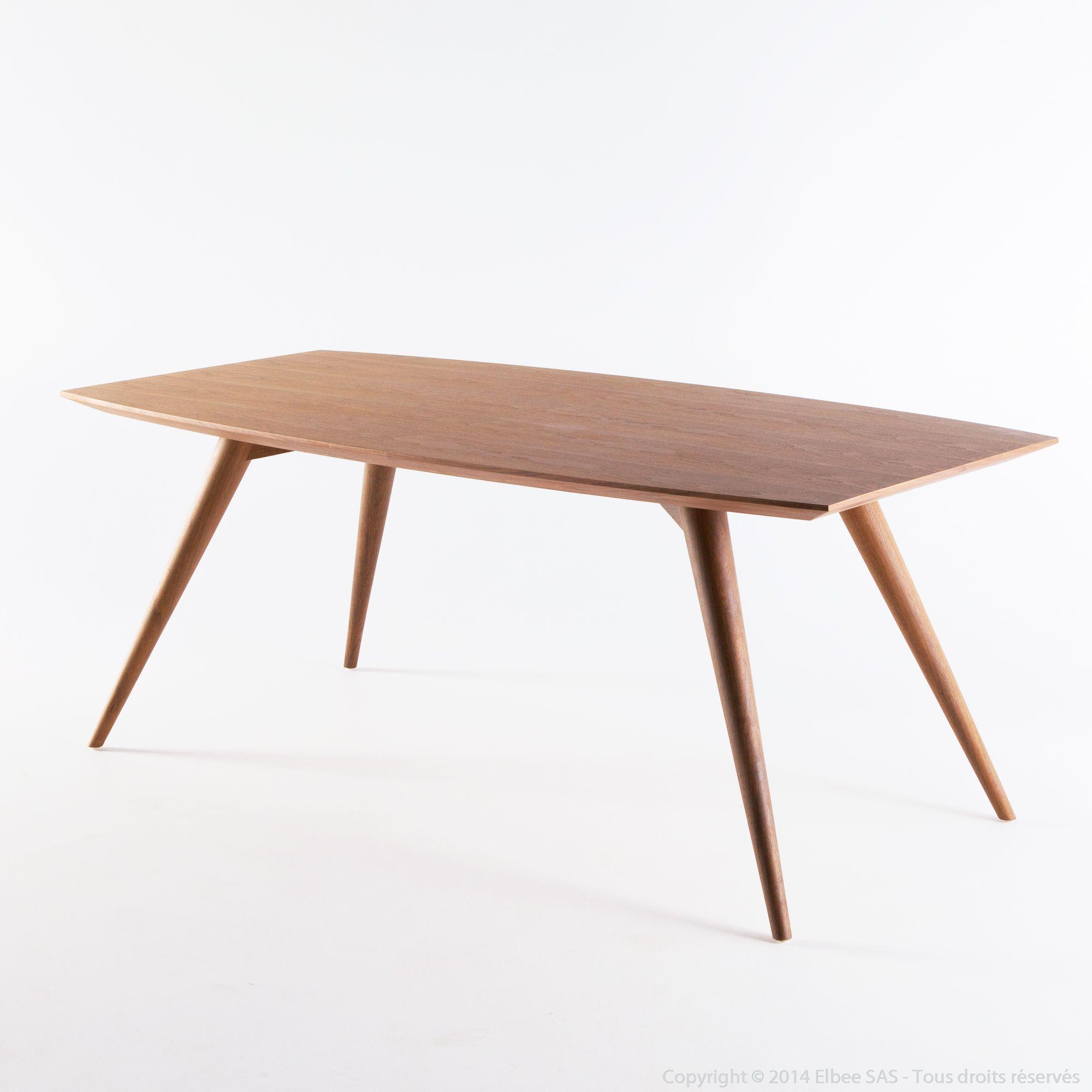 Table à manger en bois Longueur 200cm NORDLAND
