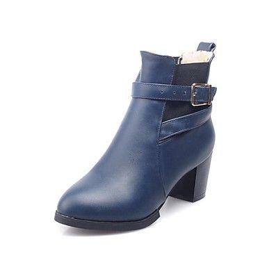 kvinners sko rund tå chunky hæl ankel boots med Gore flere farger tilgjengelige – NOK kr. 181