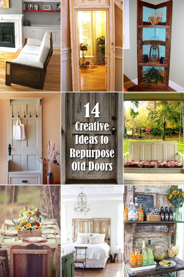 14 Creative Ideas To Repurpose Old Doors And Giving Them A Second