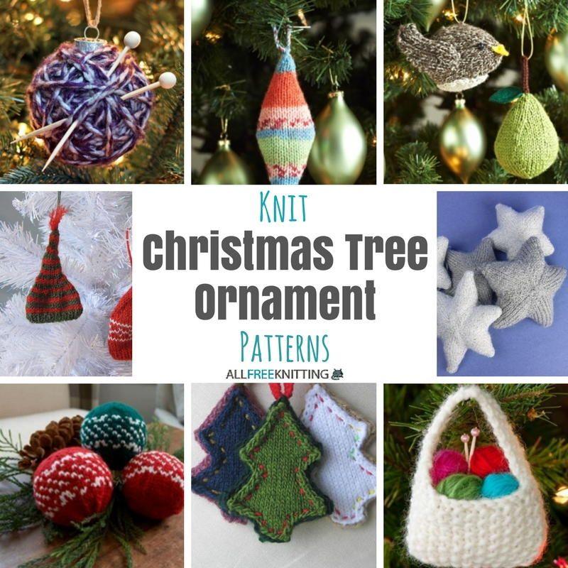 27+ Knit Christmas Tree Ornament Patterns | Knitting Patterns ...