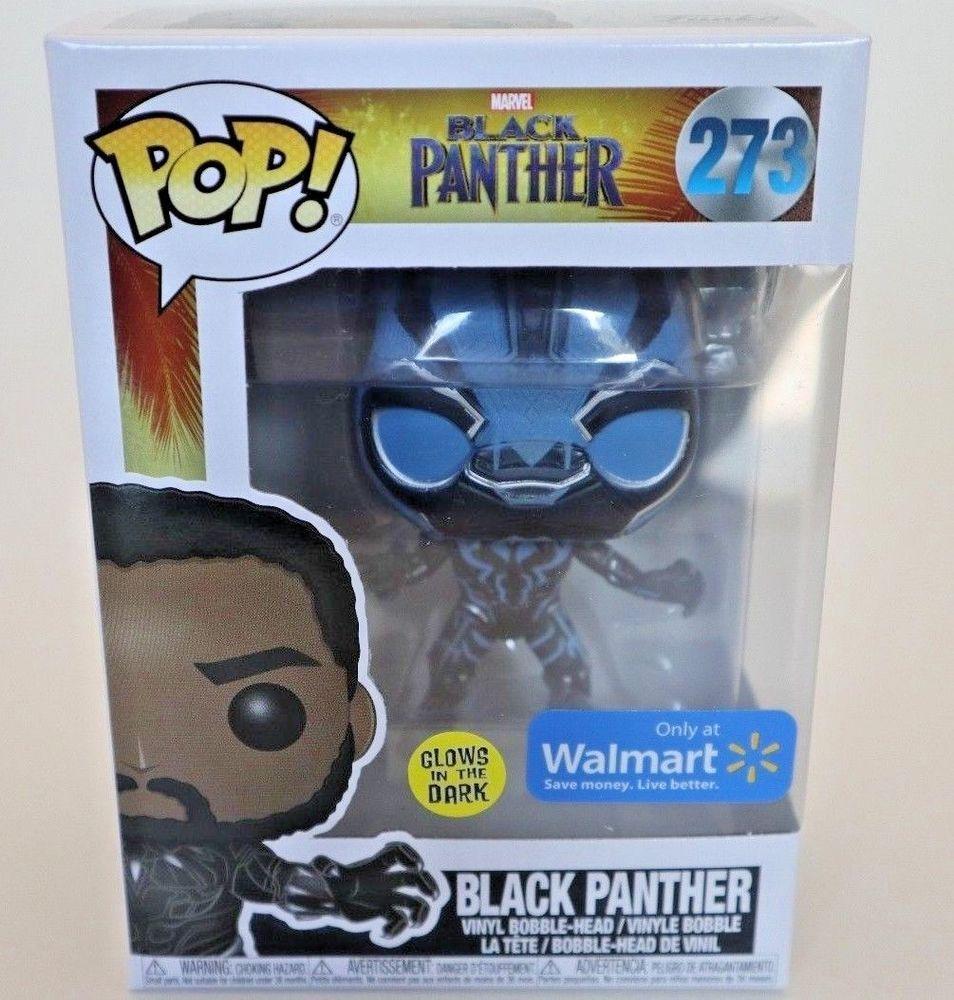 Glow in Dark Walmart Exclusive Funko Pop Marvel Black Panther