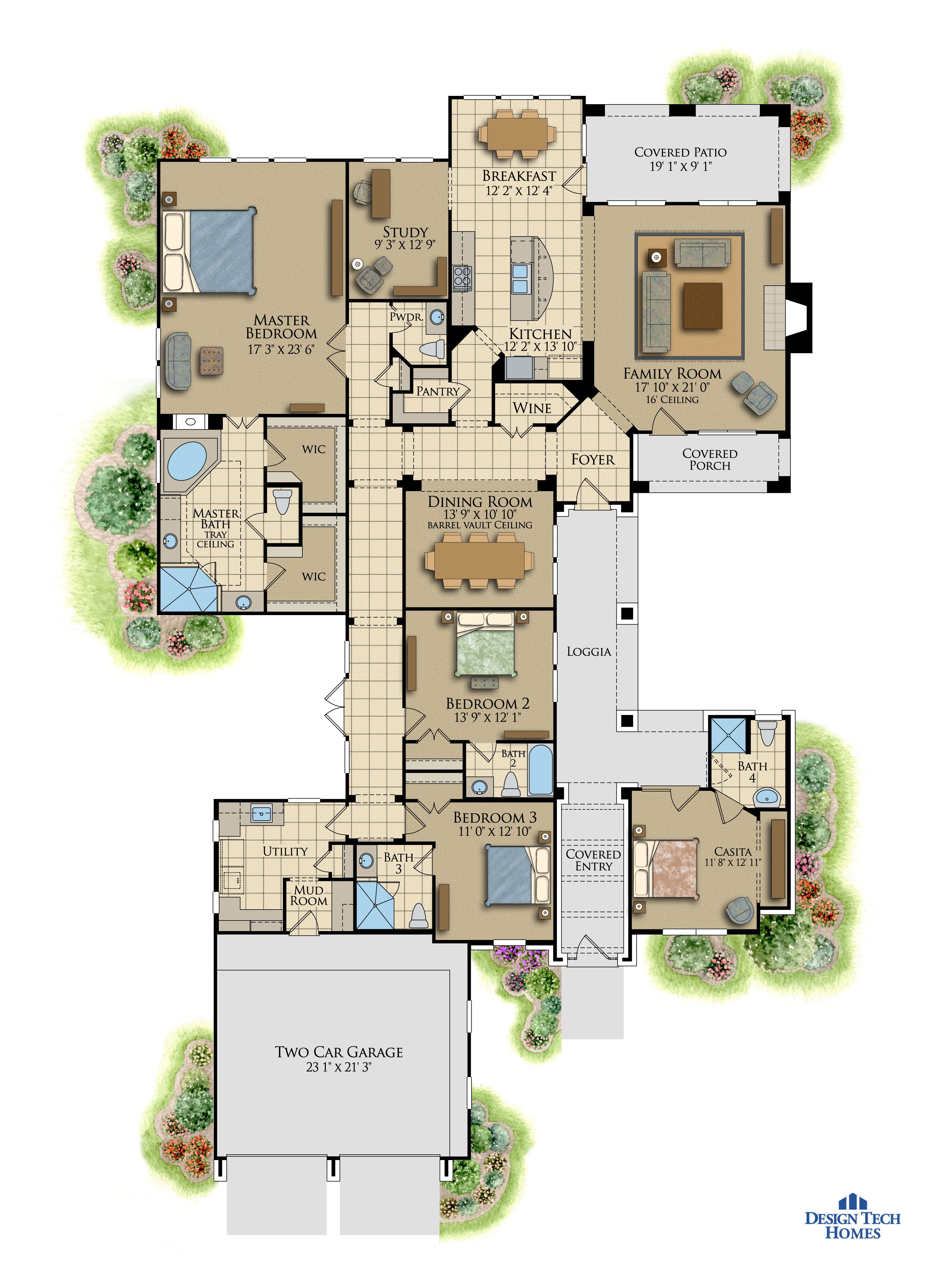 Design Tech Homes - 4/4.5, attached 2 car garage and mother-in-law ...