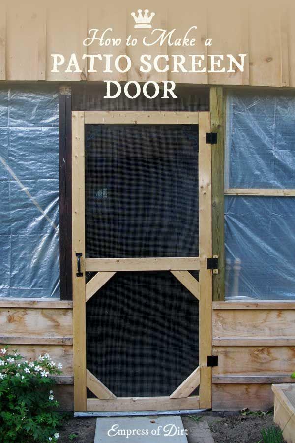 Make A Custom Size Garden Screen Door Diy Screen Door Screen