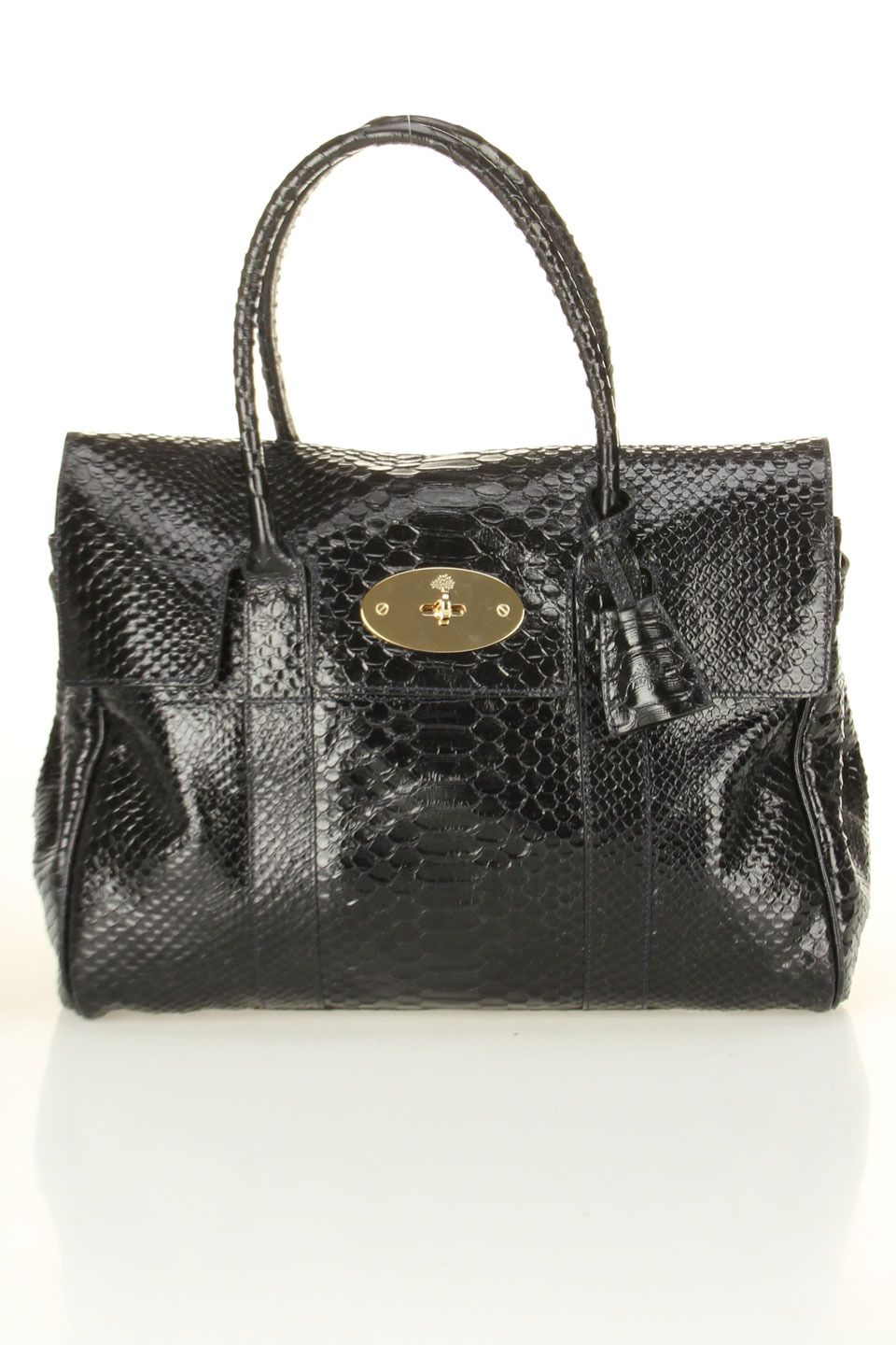 497532b947 Mulberry Bayswater Silky Snake Shine In Ink Blue.