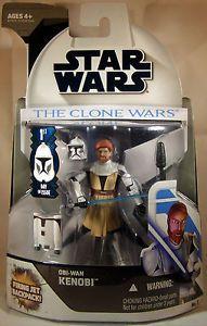 "Star Wars The Clone Wars Obi-wan Kenobi 3.75"" Figure 1st Day of Issue Series from Hasbro"