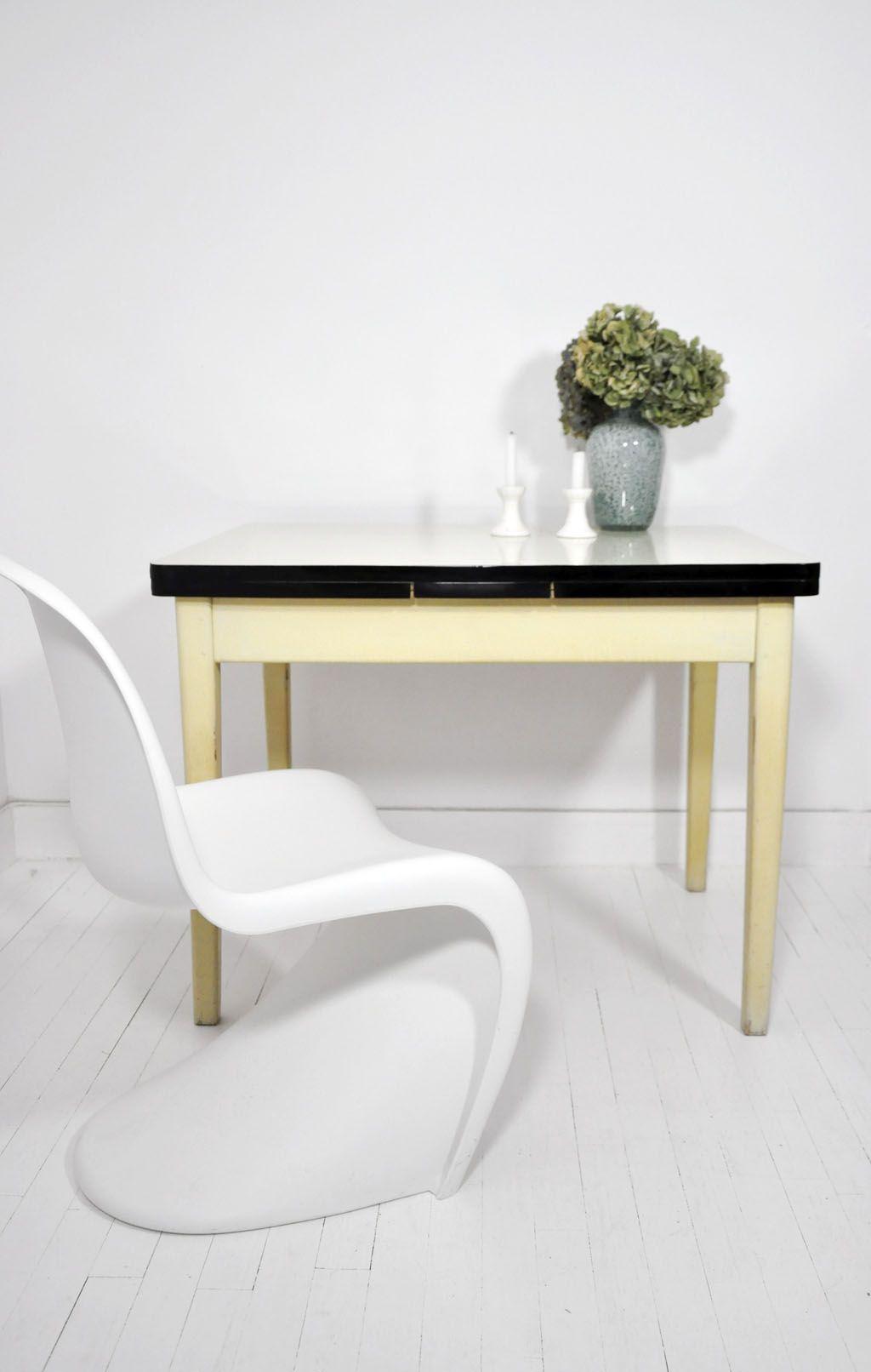 Table Basse En Formica table formica bois - années 50 - table cuisine - mobilier