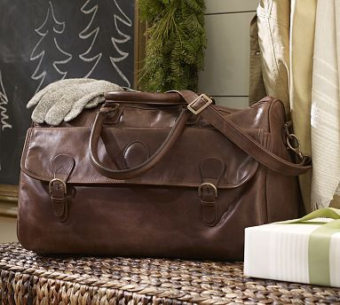 Travel In Style J Cook Leather Weekender Bag Potterybarn