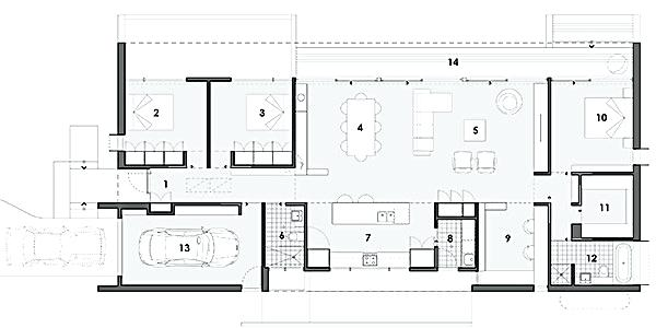 How To Get A Floor Plan Of Your House 3 Bedroom With Study Floor Plan Energy Efficient House Plans House Plans Australia House Plans