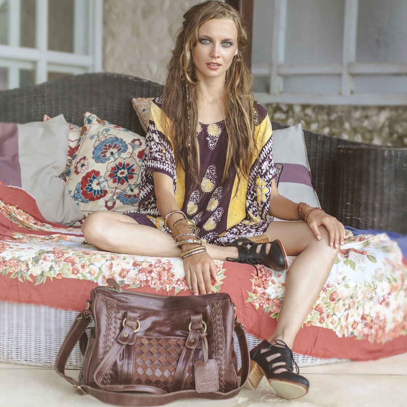 ELF Haj Leather Bag in Vintage Brown