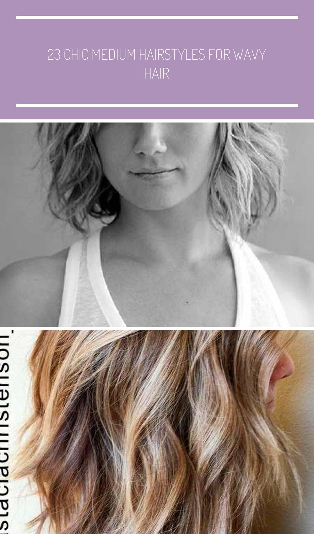 Medium Wavy Hairstyle Summer Haircuts for Women Over 18  18 wavy ...