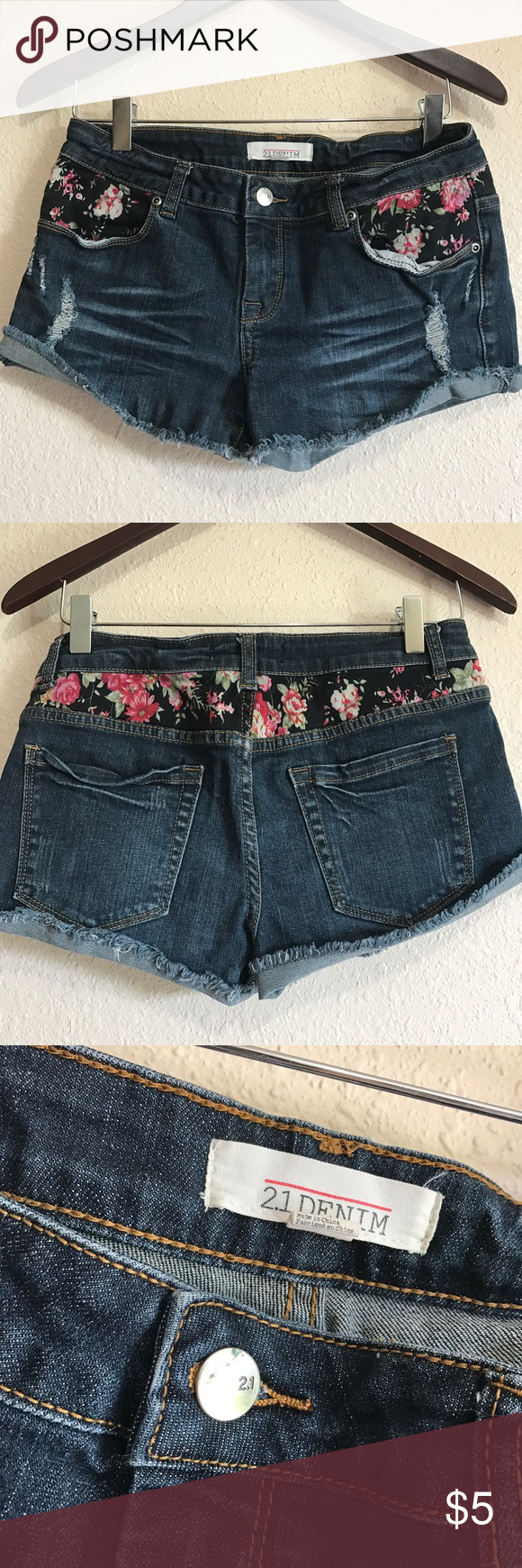 F21 Denim Shorts Size 26 , forever 21 Denim shorts, perfect for spring! Forever 21 Shorts Jean Shorts