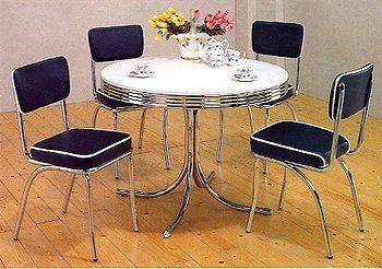Buy Retro Round Formica Table 50 S Retro Nostalgic Style Chrome
