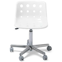 Low Profile Clic Design Clear Polo Desk Chair