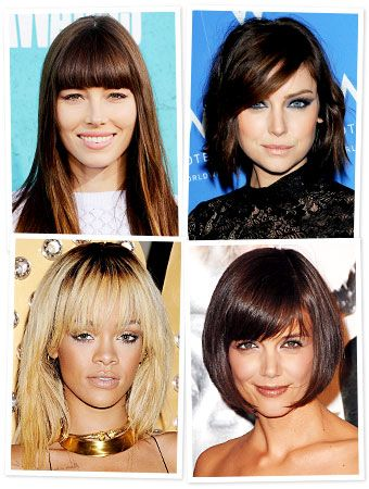 The Best Bangs For Your Face Shape Womens Hairstyles Hair Styles Sleek Hairstyles