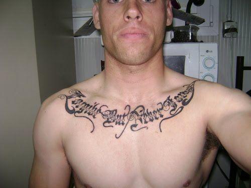 Neck Shoulder Tattoos For Guys Chest Tattoo Men Tattoos