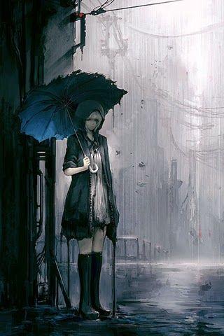 Meine Inspiration Girl Rain Gadis Dalam Hujan Obras De Arte Papel De Parede Anime Animes Manga