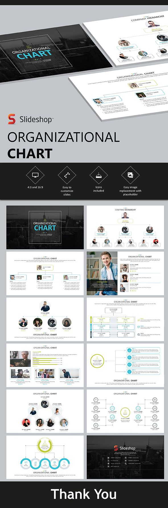 Organizational Chart | Presentation templates, Template and Ppt template