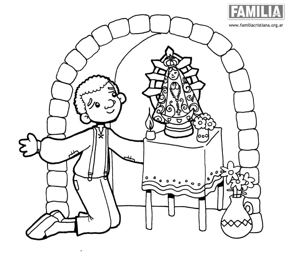 Familia Cristianade Paulinas  dibujos de la virgen