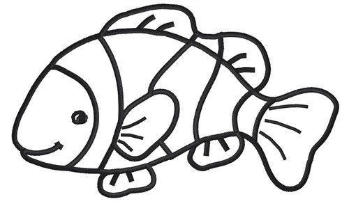 Clown Fish Drawings Design Clipart Panda Free Clipart Images Fish Drawings Fish Drawing Outline Clown Fish