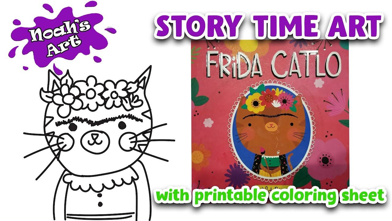 Frida Catlo Youtube Art Class Time Art Coloring Pages [ 720 x 1280 Pixel ]