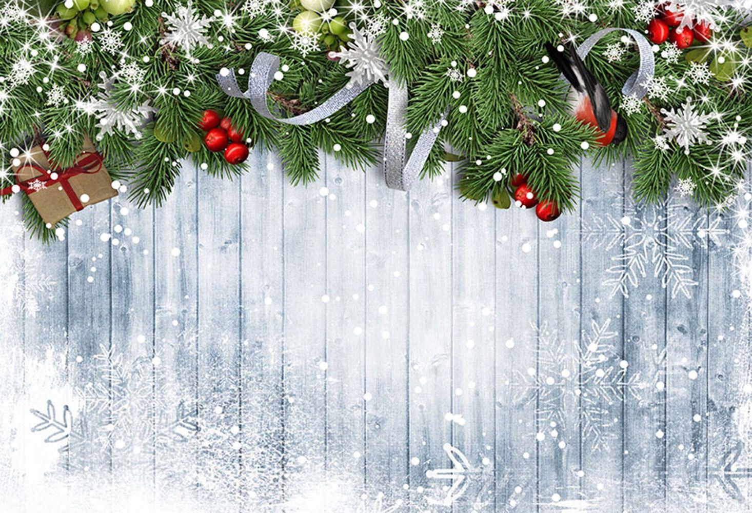 Merry Christmas Photo Photography Backdrop Wall Floor Studio Background Xmas