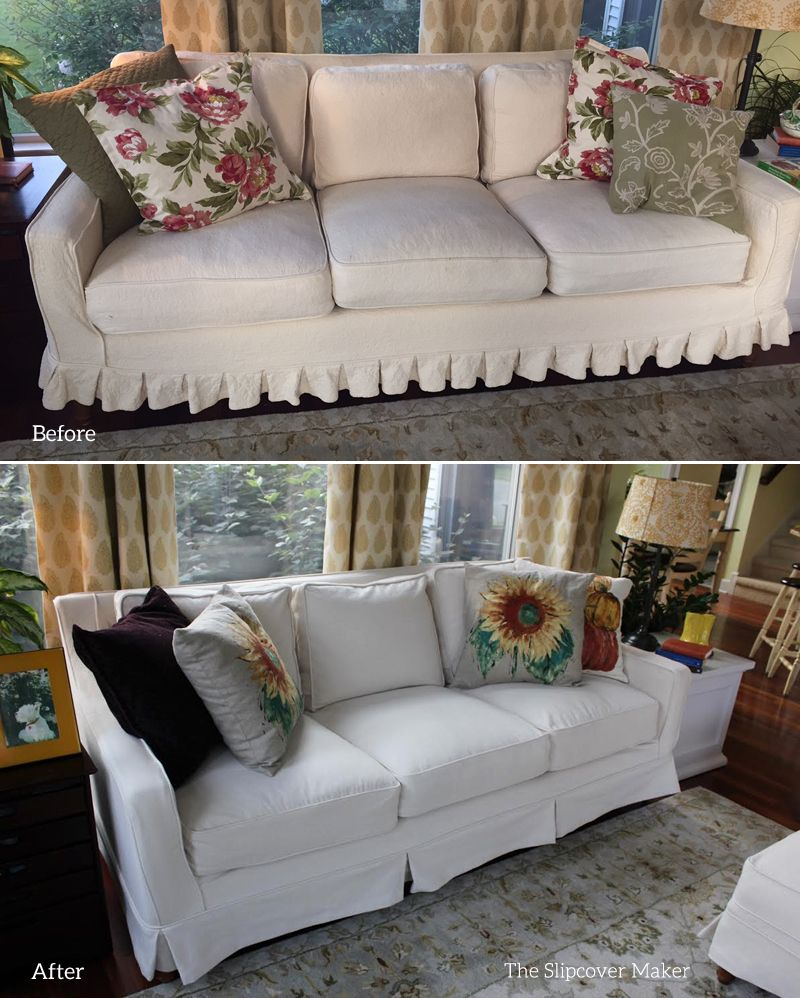 New Natural Denim Slipcover Custom Made For This Thomasville Felicity Sofa
