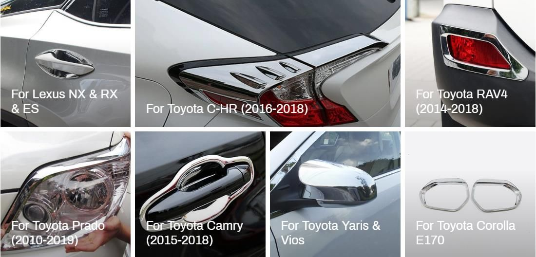 Car Accessories For Toyota Protect And Decorate Your Car Door Side Wing Rear View Mirror Cover Door Handle Bowl Cover Fo Car Accessories Toyota Accessories