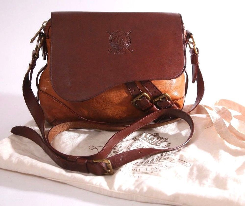 Vintage Ralph Lauren 2 Tone Brown   Saddle Leather