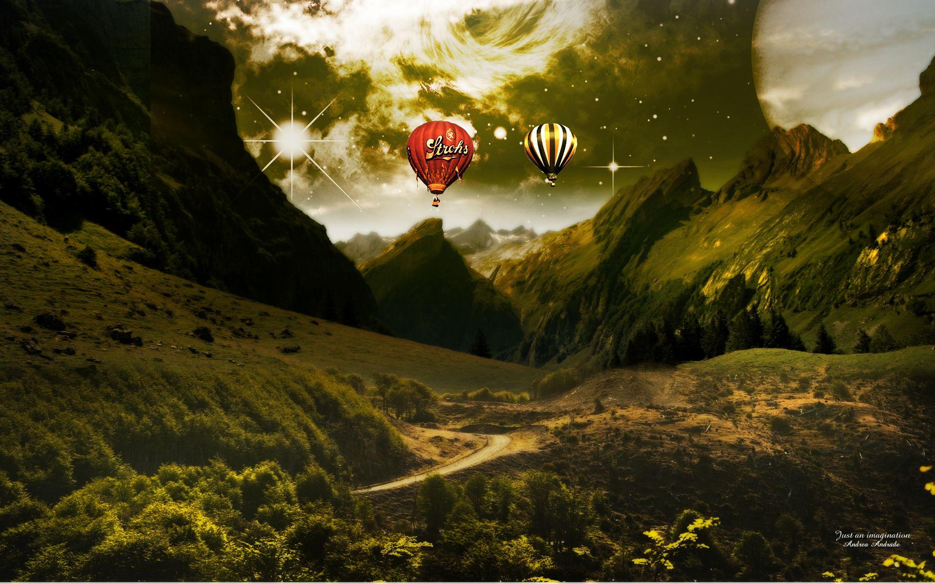 Fantasy landscapes wallpaper fantasy landscape for Lustige wallpaper