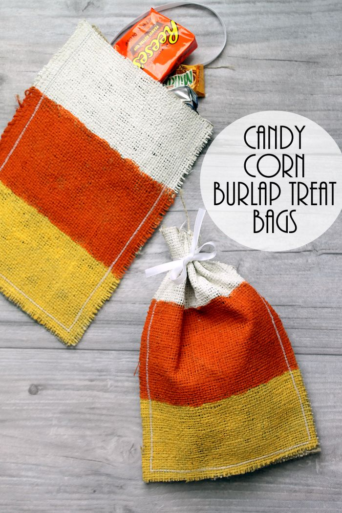 Candy Corn Treat Bags With
