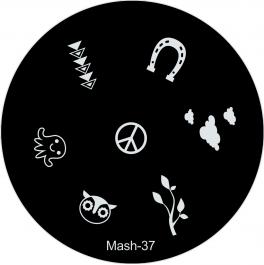 MASH Nail Art Image Plate #37