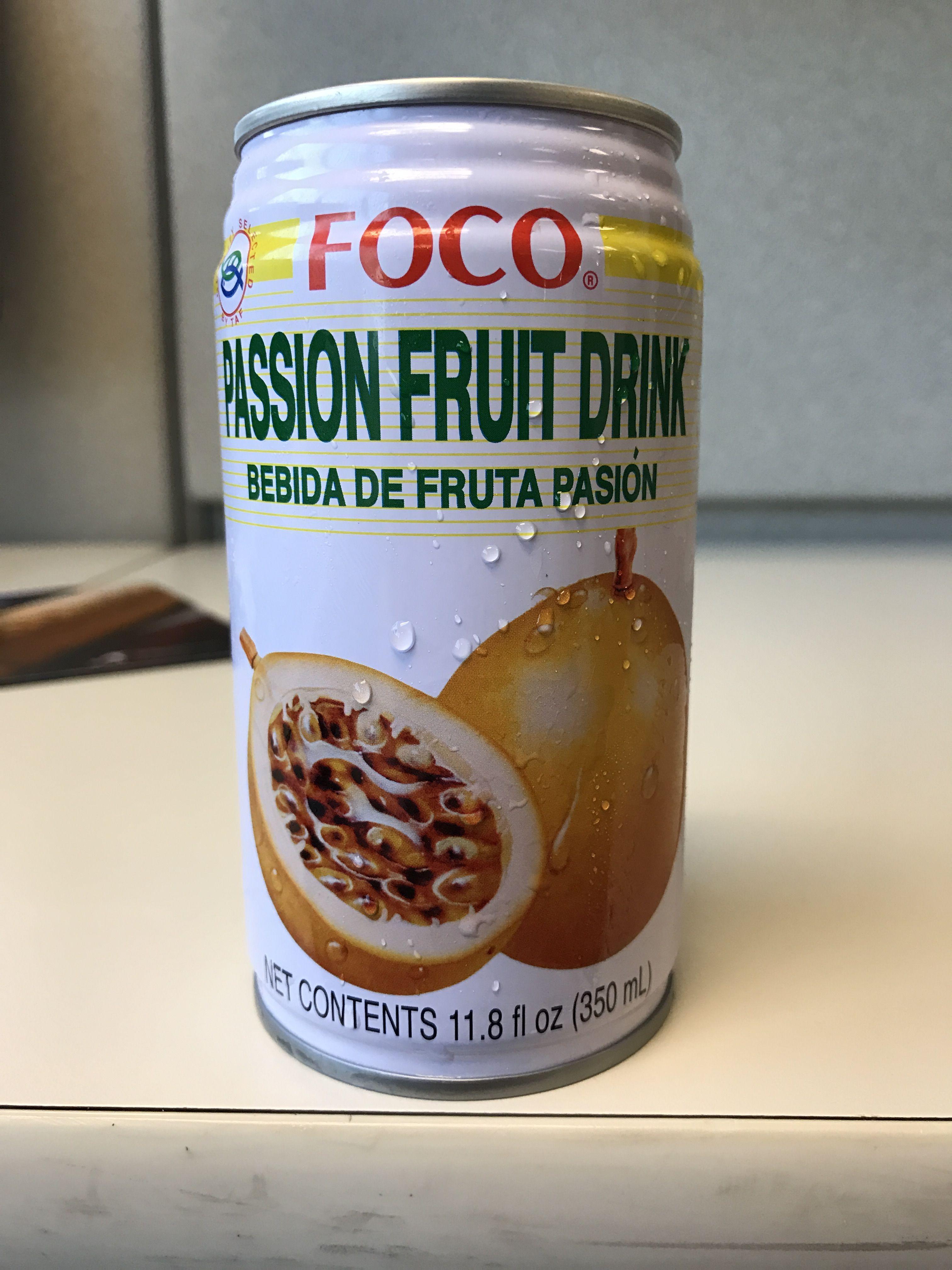 Foco passion fruit drink 25% juice