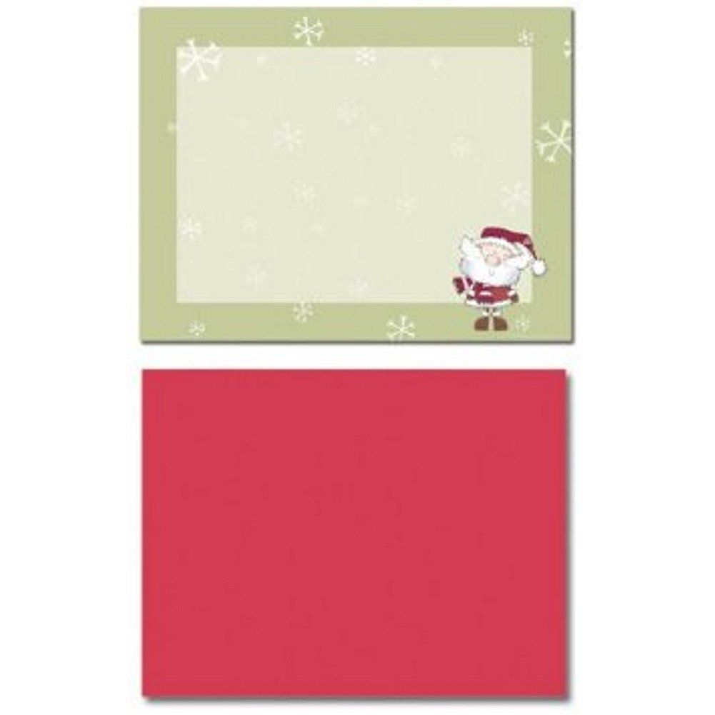 merry christmas santa printable postcards and red a2 envelopes