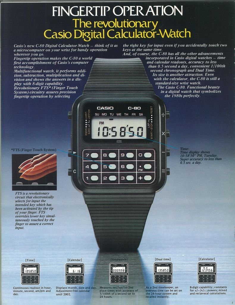 Iconic C Watch Casio's Calculator 80 Debuts QoeWxBrdC