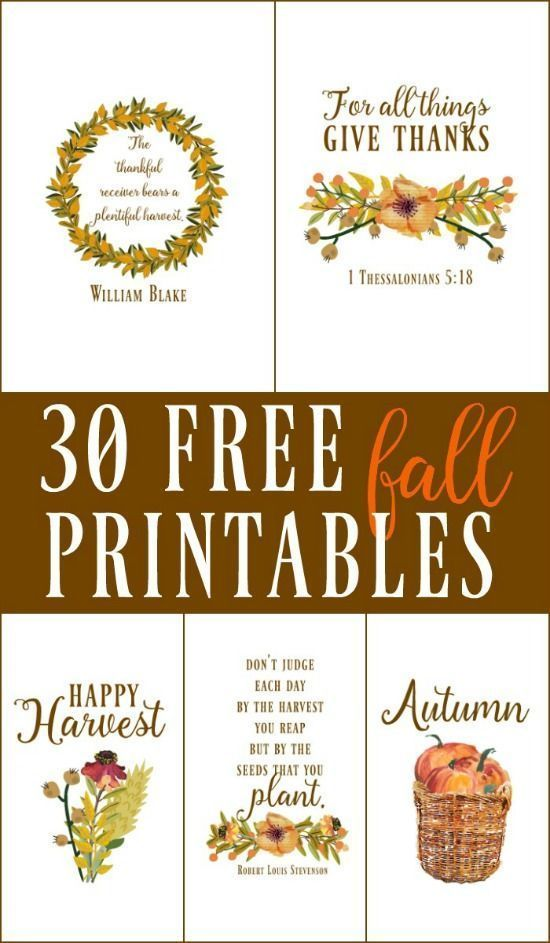 30 free fall autumn original printables diy wall art diy wall 30 free fall autumn original printables use these free fall printables for crafts diy sciox Image collections