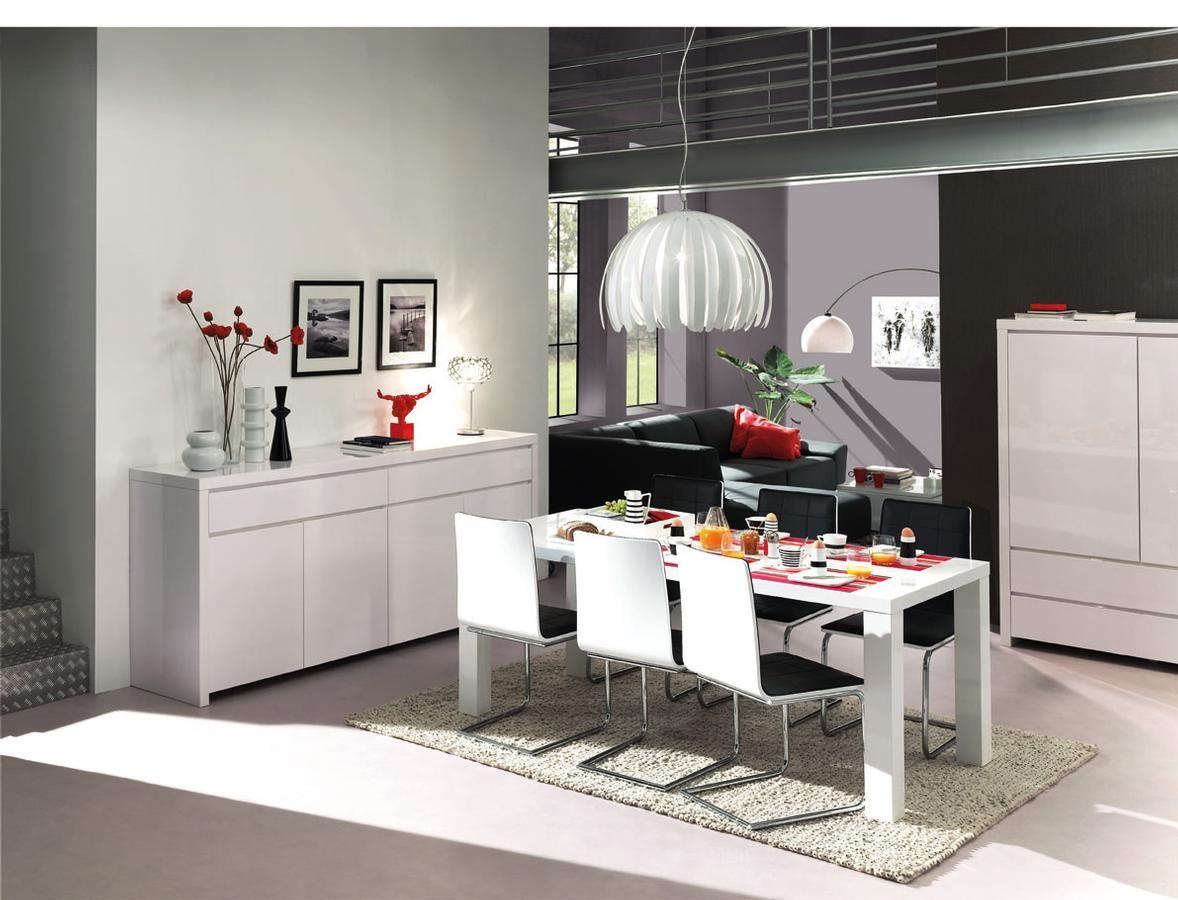 Eetkamer Wit Hoogglans : Strakke eetkamer in wit hoogglans. interieur pinterest