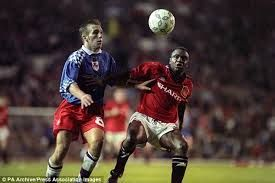 Paul barnes scored twice as York City beat Man Utd 0-3 at Old Trafford in the League Cup in 1994.