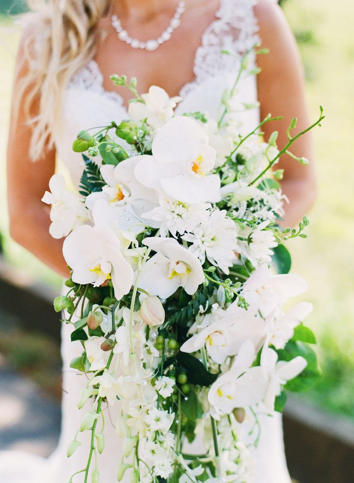 This Beatiful Wedding Bouquet Is A Cascading Arrangement Of All
