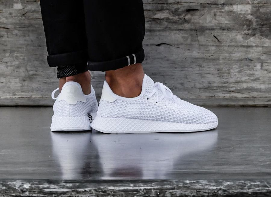 check-out 44699 09907 basket-adidas-deerupt-runner-mesh-grille-toute-blanche-homme ...