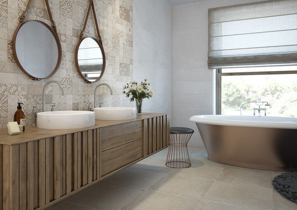 5 suelos para el cuarto de ba o decorativos y pr cticos - Lo ultimo en azulejos para banos ...