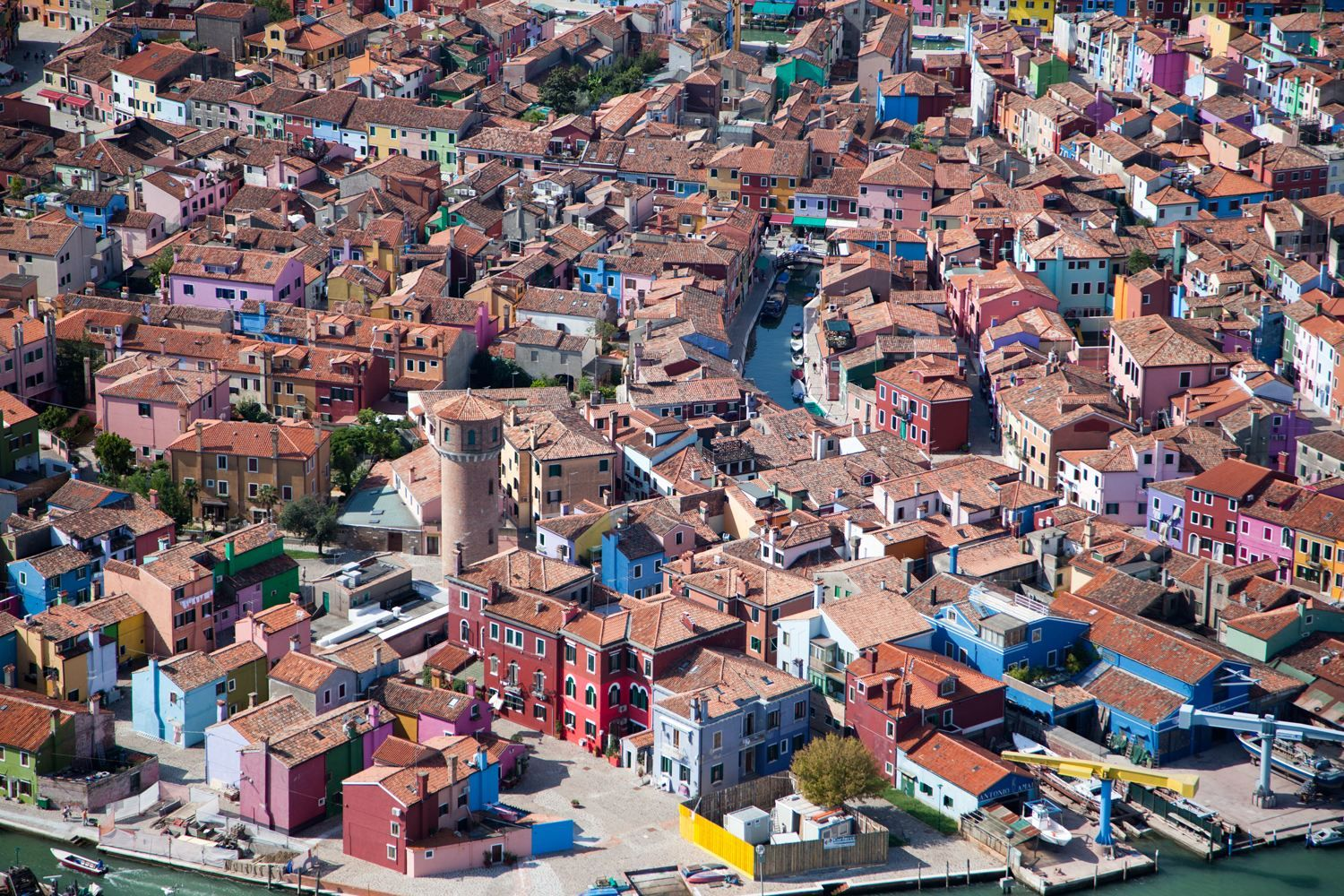 'Brightly Painted Houses' in Burano, Italy, 2010